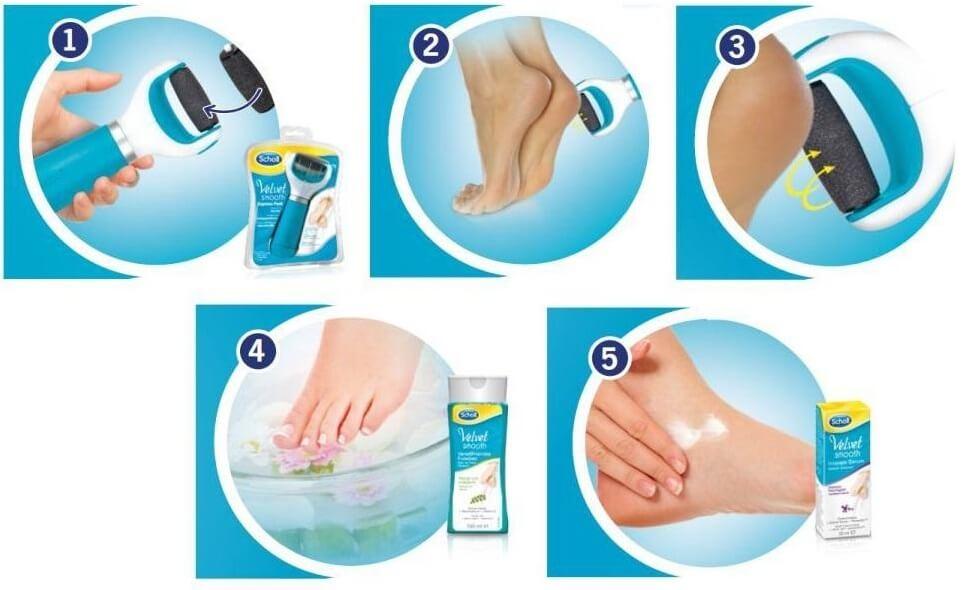 In fünf Schritten zu weichen Füßen
