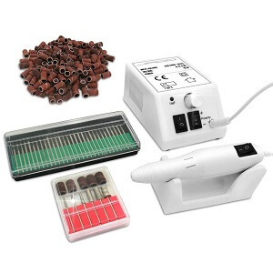 Nagelstudio Set Nagelfräser Nagel Maniküre Pediküre inkl. Zubehör + stufenlos einstellbar elektrische Nagelfeile
