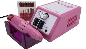 Laron S1101P Maniküre Pediküre Set in Pink inkl Fräser