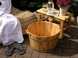 XL Massage Holz Fußbadekübel Fußbadewanne